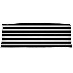Horizontal Stripes Black Body Pillow Case Dakimakura (two Sides) by Mariart