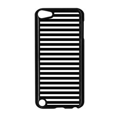 Horizontal Stripes Black Apple Ipod Touch 5 Case (black) by Mariart