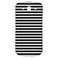 Horizontal Stripes Black Samsung Galaxy S3 S Iii Classic Hardshell Back Case by Mariart