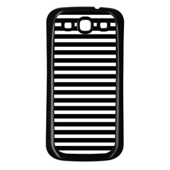 Horizontal Stripes Black Samsung Galaxy S3 Back Case (black) by Mariart