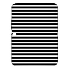 Horizontal Stripes Black Samsung Galaxy Tab 3 (10 1 ) P5200 Hardshell Case  by Mariart