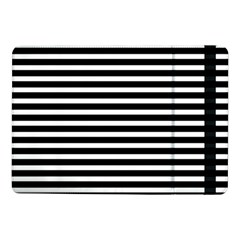 Horizontal Stripes Black Samsung Galaxy Tab Pro 10 1  Flip Case by Mariart
