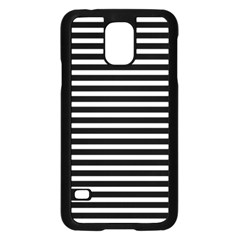 Horizontal Stripes Black Samsung Galaxy S5 Case (black) by Mariart