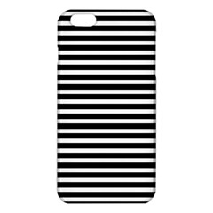 Horizontal Stripes Black Iphone 6 Plus/6s Plus Tpu Case by Mariart