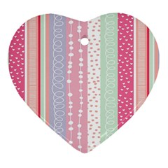 Heart Love Valentine Polka Dot Pink Blue Grey Purple Red Ornament (heart) by Mariart