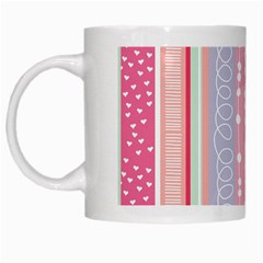 Heart Love Valentine Polka Dot Pink Blue Grey Purple Red White Mugs by Mariart