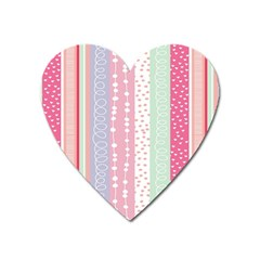 Heart Love Valentine Polka Dot Pink Blue Grey Purple Red Heart Magnet by Mariart