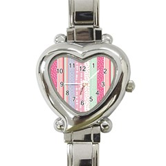Heart Love Valentine Polka Dot Pink Blue Grey Purple Red Heart Italian Charm Watch by Mariart