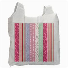 Heart Love Valentine Polka Dot Pink Blue Grey Purple Red Recycle Bag (one Side) by Mariart