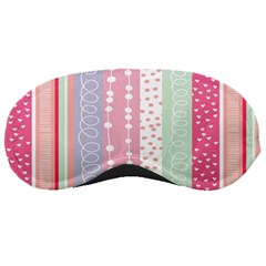Heart Love Valentine Polka Dot Pink Blue Grey Purple Red Sleeping Masks by Mariart