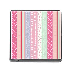 Heart Love Valentine Polka Dot Pink Blue Grey Purple Red Memory Card Reader (square) by Mariart