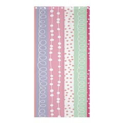 Heart Love Valentine Polka Dot Pink Blue Grey Purple Red Shower Curtain 36  X 72  (stall)  by Mariart