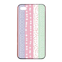 Heart Love Valentine Polka Dot Pink Blue Grey Purple Red Apple Iphone 4/4s Seamless Case (black) by Mariart
