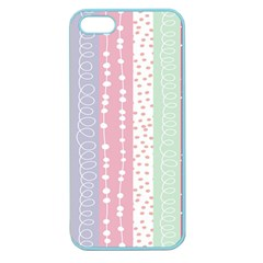 Heart Love Valentine Polka Dot Pink Blue Grey Purple Red Apple Seamless Iphone 5 Case (color) by Mariart