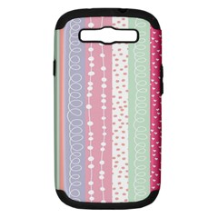 Heart Love Valentine Polka Dot Pink Blue Grey Purple Red Samsung Galaxy S Iii Hardshell Case (pc+silicone) by Mariart