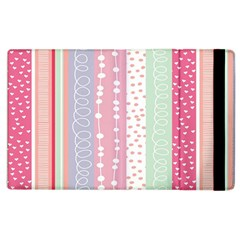 Heart Love Valentine Polka Dot Pink Blue Grey Purple Red Apple Ipad 3/4 Flip Case by Mariart