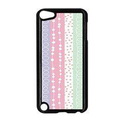 Heart Love Valentine Polka Dot Pink Blue Grey Purple Red Apple Ipod Touch 5 Case (black) by Mariart
