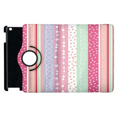 Heart Love Valentine Polka Dot Pink Blue Grey Purple Red Apple Ipad 3/4 Flip 360 Case by Mariart