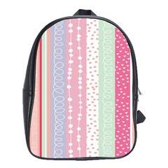 Heart Love Valentine Polka Dot Pink Blue Grey Purple Red School Bags (xl)  by Mariart