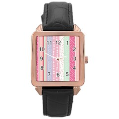 Heart Love Valentine Polka Dot Pink Blue Grey Purple Red Rose Gold Leather Watch  by Mariart
