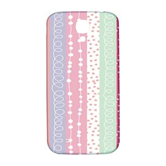 Heart Love Valentine Polka Dot Pink Blue Grey Purple Red Samsung Galaxy S4 I9500/i9505  Hardshell Back Case by Mariart