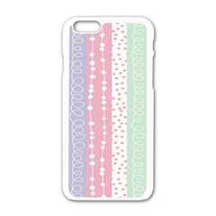 Heart Love Valentine Polka Dot Pink Blue Grey Purple Red Apple Iphone 6/6s White Enamel Case by Mariart