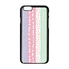 Heart Love Valentine Polka Dot Pink Blue Grey Purple Red Apple Iphone 6/6s Black Enamel Case by Mariart