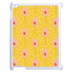 Flower Floral Tulip Leaf Pink Yellow Polka Sot Spot Apple Ipad 2 Case (white) by Mariart