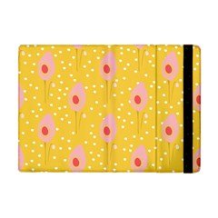 Flower Floral Tulip Leaf Pink Yellow Polka Sot Spot Apple Ipad Mini Flip Case by Mariart
