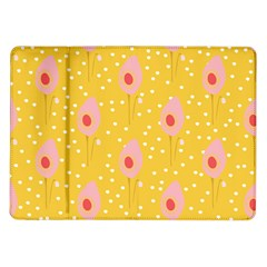 Flower Floral Tulip Leaf Pink Yellow Polka Sot Spot Samsung Galaxy Tab 10 1  P7500 Flip Case by Mariart