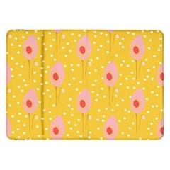 Flower Floral Tulip Leaf Pink Yellow Polka Sot Spot Samsung Galaxy Tab 8 9  P7300 Flip Case by Mariart