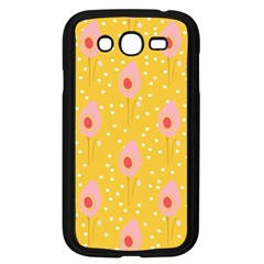 Flower Floral Tulip Leaf Pink Yellow Polka Sot Spot Samsung Galaxy Grand Duos I9082 Case (black) by Mariart