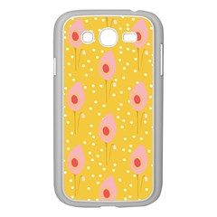 Flower Floral Tulip Leaf Pink Yellow Polka Sot Spot Samsung Galaxy Grand Duos I9082 Case (white) by Mariart