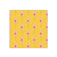 Flower Floral Tulip Leaf Pink Yellow Polka Sot Spot Satin Bandana Scarf by Mariart