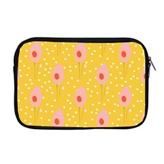 Flower Floral Tulip Leaf Pink Yellow Polka Sot Spot Apple Macbook Pro 17  Zipper Case by Mariart
