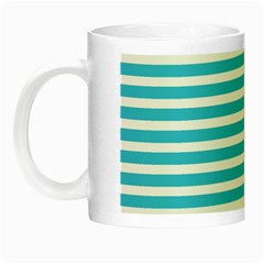 Horizontal Stripes Blue Night Luminous Mugs by Mariart