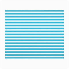 Horizontal Stripes Blue Small Glasses Cloth by Mariart