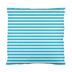 Horizontal Stripes Blue Standard Cushion Case (one Side) by Mariart