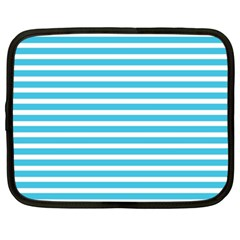 Horizontal Stripes Blue Netbook Case (xxl)  by Mariart