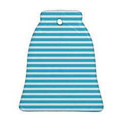 Horizontal Stripes Blue Bell Ornament (two Sides) by Mariart