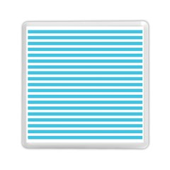 Horizontal Stripes Blue Memory Card Reader (square)  by Mariart