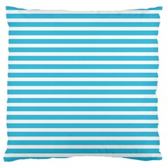 Horizontal Stripes Blue Large Cushion Case (one Side) by Mariart