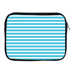 Horizontal Stripes Blue Apple Ipad 2/3/4 Zipper Cases by Mariart