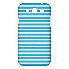 Horizontal Stripes Blue Samsung Galaxy Mega 5 8 I9152 Hardshell Case  by Mariart