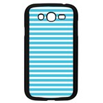 Horizontal Stripes Blue Samsung Galaxy Grand DUOS I9082 Case (Black) Front