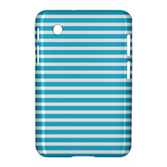 Horizontal Stripes Blue Samsung Galaxy Tab 2 (7 ) P3100 Hardshell Case  by Mariart