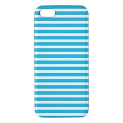 Horizontal Stripes Blue Iphone 5s/ Se Premium Hardshell Case by Mariart