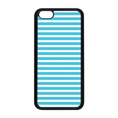 Horizontal Stripes Blue Apple Iphone 5c Seamless Case (black) by Mariart