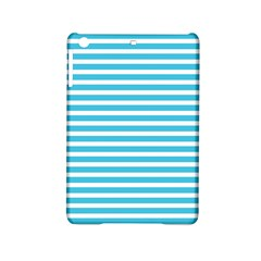 Horizontal Stripes Blue Ipad Mini 2 Hardshell Cases by Mariart