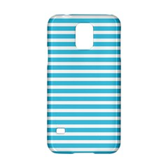 Horizontal Stripes Blue Samsung Galaxy S5 Hardshell Case  by Mariart